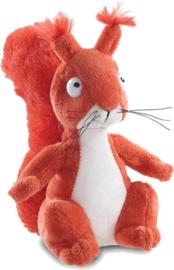De Gruffalo knuffel eekhoorn 18 cm rood