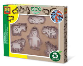SES Creative Eco Klei Uitsteekvormen Boerderij 6 stuks