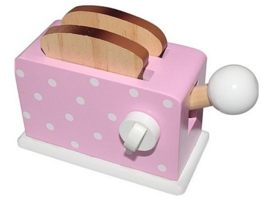 Simply for Kids Houten Broodrooster + Brood Roze