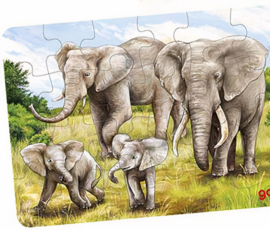Goki Legpuzzel Afrikaanse Dieren Olifant  24-delig