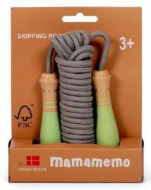 Springtouw Mamamemo 5 meter Groen/Grijs
