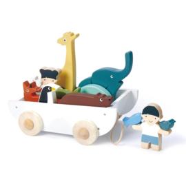 Tender Leaf Toys vriendschapsboot hout junior