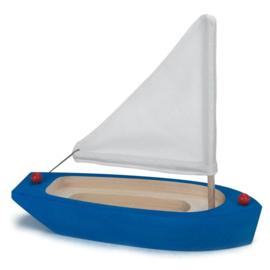 Glückskäfer Zeilboot blauw/wit hout 22 cm
