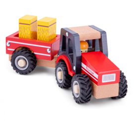 New Classic Toys Tractor Little Driver Rood 24 cm