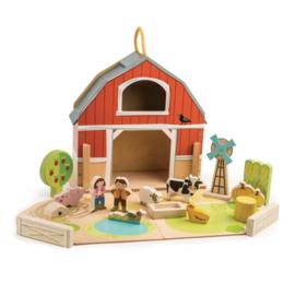 Tender Leaf Toys draagbare boerderij speelset junior 18-delig