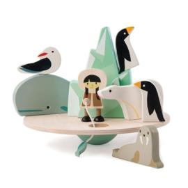 Tender Toys Balancerende Poolcirkel hout  9-delig