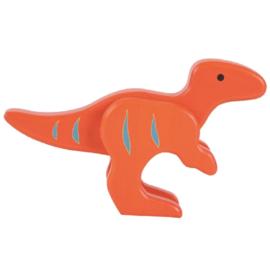 Everearth speelfiguur dinosaurus oranje 11x17x4 cm