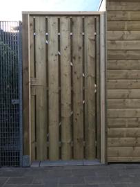 Poortdeur en betimmering carport