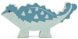 Tender Leaf Toys dino ankylosaurus 10 cm hout blauw