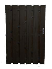 Houten Poortdeur Douglas 80 x 180 zwarte planken + zwart frame