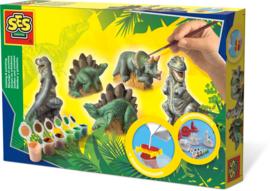 SES Creative Gips gieten en schilderen Dino's