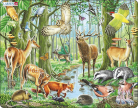 Larsen legpuzzel Maxi Europese bossen 40 stukjes