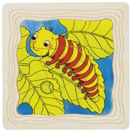 Houten Lagen Puzzel Vlinder