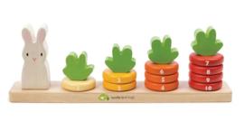 Tender Leaf Toys wortels tellen hout junior 32 x 5,5 x 10,5 cm 16-delig