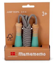 Springtouw Mamamemo 2,6 meter Turqoise/Grijs