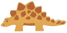 Tender Leaf Toys dino stegosaurus 13 cm hout oranje