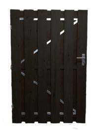 Houten Poortdeur Douglas 80 x 180 zwarte planken