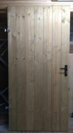 Geimpregneerd Tuinhout Poortdeur met de planken tegen elkaar aan