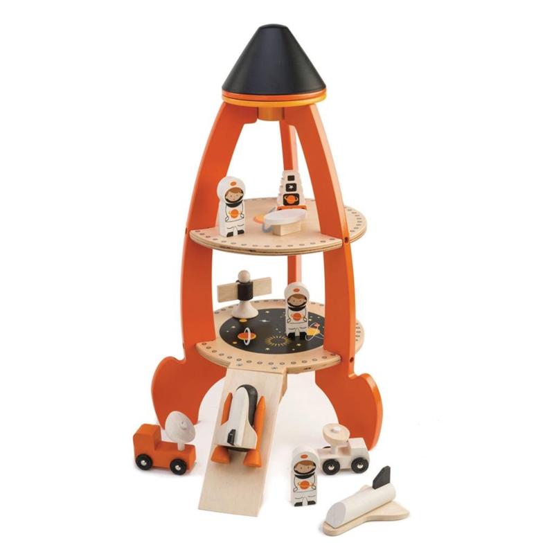 Tender Toys Raket speelset hout met accessoires