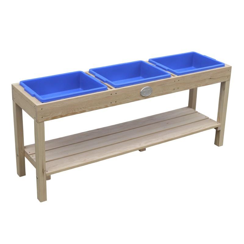 Activiteiten Tafel met 3 bakken Naturel Bruin Zand- en Watertafel