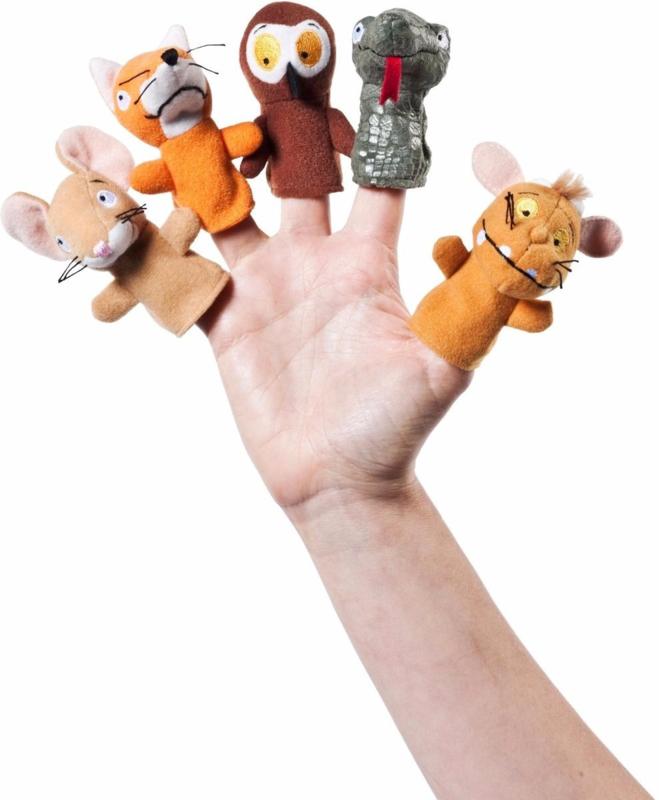 De Gruffalo vingerpoppen 5 stuks