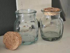 Glazen voorraad potten