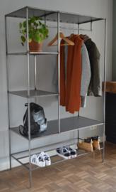 Industriële stalen kledingrek / garderobekast