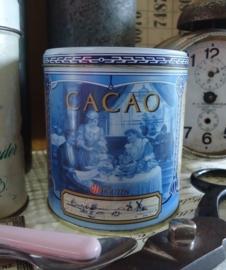 Van Houten Cacao blikje blauw VERKOCHT
