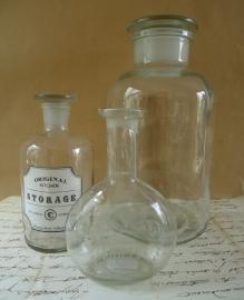 Glazen flesje VERKOCHT