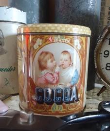 Van Houten Cacao blikje bruin VERKOCHT