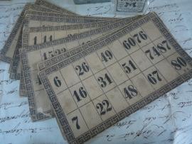 Bingo kaarten VERKOCHT