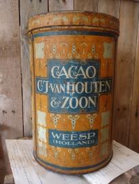 Van Houten Cacao blik VERKOCHT