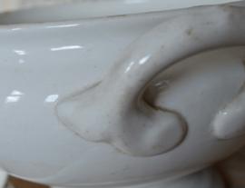 Porseleinen soepterrine met lepel
