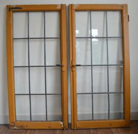 Grote glas in lood ramen VERKOCHT