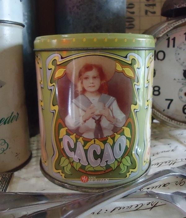 Van Houten Cacao blikje groen VERKOCHT