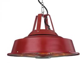 Eurom | Hangende Terrasverwarming | Elektrisch | Party Tent Heater Sail Red | 1500W | 14m² | Carbon | 336016