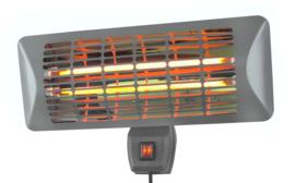 Eurom | Staande Terrasverwarming | Elektrisch | Q-time 2000S | 2000W | 14m² | Quartz | 334203