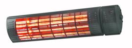 Eurom | Hangende Terrasverwarming | Elektrisch | Golden 2000 Ultra RCD Black | 2000W | 20m² | Golden Halogeen | Afst. & dimmer | 334531
