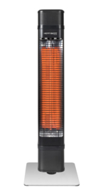 Eurom | Staande Terrasverwarming | Elektrisch | Heat and beat tower | 2200W dimbaar | 22m² | Carbon | Bluetooth speakers | AB + App | 334562