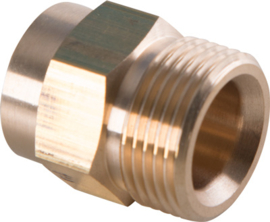 Eurom SU schroefkoppeling M22 x 1,5 budr x 1/4'' bidr (moederdeel messing)