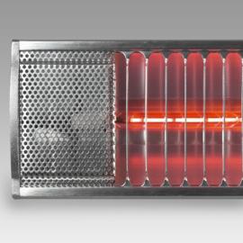 Eurom   Hangende Terrasverwarming   Elektrisch   Golden 2200 Comfort RCD   2200W   20m²   Afst. & Dimmer   Golden halogeen   334524