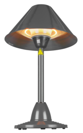 Eurom | Staande Terrasverwarming | Elektrisch | PD1500 | 1500W | 13m² | Halogeen | 333299