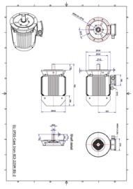 OMT1-IE3 225M4 45kW(1500rpm) 400/690V 50Hz IP55 B3/B35/B5/V1