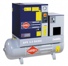 Airpress Schroefcompressor APS 7,5 Basic CombiDry