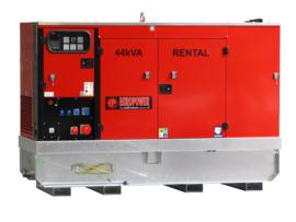 Diesel Aggregaat EPUS44TDE Kubota 1500rpm 56dB(A) 40 kVA | 400V | ULTRA SILENT