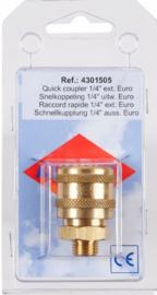 Airpress Snelkoppeling (Euro 1/4'' uitw)