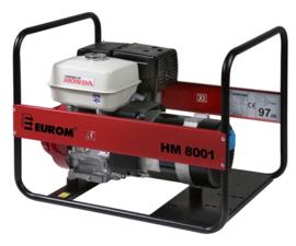 EUROM Benzine aggregaat HM8001 met Honda motor (230V)