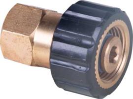 Eurom SU schroefkoppeling M22 x 1,5 bidr x 1/2'' bidr (vaderdeel zwart)