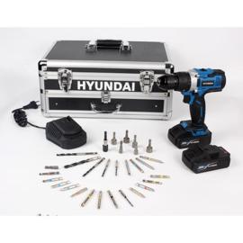 Hyundai 20V accuboormachine in aluminium koffer
