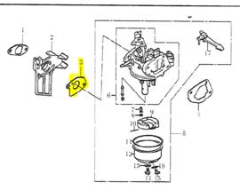 Ergofix pakking carburateur tbv trilplaat 79810